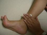 三陰交(SP6)。足の太陰脾経の経穴です。